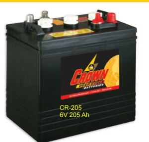Batteries 6v 205 Ah For Solar Deep Cycle Crown Cr 205 8 Each