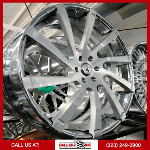 26 Asanti Forged 6lug Brushed Silver Wheel Tire Package