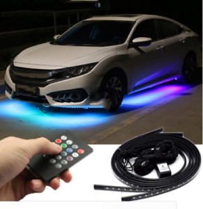 8 Colors Music Remote Control Rgb Led Strip Car Under Underbody Atmosphere Lamp
