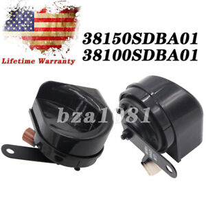 Set 2 Low High Tone Horn For Honda Accord Acura Rl Tsx 38150sdba02 38100sdba02