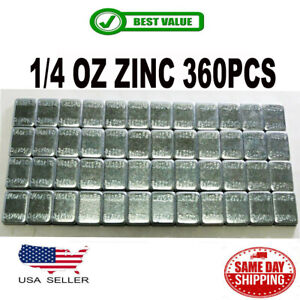 1 Box 1 4 Oz Zinc Wheel Weights Stick on Adhesive Tape 6 Lbs Lead free 360 Pcs