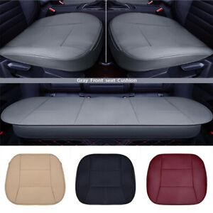 Us Car Seat Cover Pu Leather Front Rear Set Full Surrounding Protector Cushion