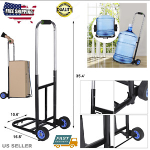 190lb Hand Truck Dolly Convertible Folding Platform Cart Trolley With 2 Wheels