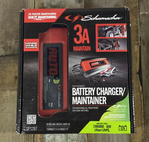 Schumacher Sp1297 12v Automatic Battery Charger And 3 Amp Maintainer
