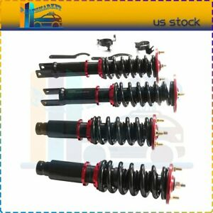For 1990 1997 Honda Accord Coilovers Shock Suspension Spring Kits Adj Height