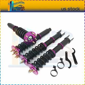 Coilovers Shock Suspension Spring Kits For 2008 2012 Honda Accord Adj Height