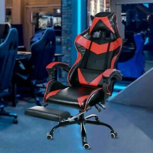 Gaming Chair Adjustable Footrest Office Chair Swivel Chair 7 Day Shipping