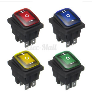 12v 16a 6pin Waterproof Rocker Switch With Lamp Light Momentary Car Boat