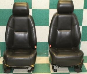 dmg 10 11 Denali Black Leather Heat Cool Power Bucket Seats W Monitor Screens