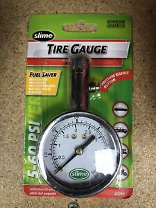 Slime 20049 Dial Tire Gauge 5 To 60 Psi
