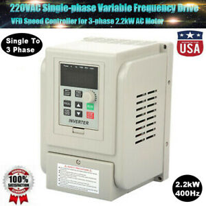 2 2kw 3hp Single To 3 Phase Variable Frequency Drive Vfd Speed Controller 400hz