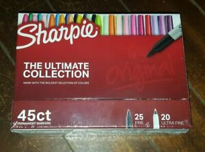 Sharpie Ultimate Collection 45ct Permanent Markers Set 25 Fine 20 Ultra Fine