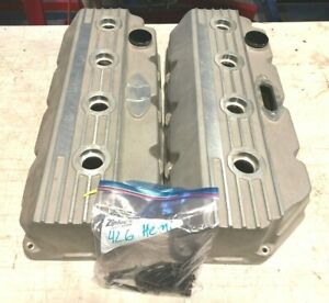 Rare Custom Keith Black 426 Hemi V8 Valve Covers Mopar