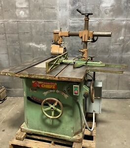 Northfield No 4 Heavy Duty 18 Table Saw With Rockwell 4v Feeder Woodworking 5hp