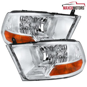 For 2009 2018 Dodge Ram 1500 2500 3500 Headlight Head Lamps Replacement