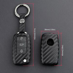 Car Key Case Cover Remote For Vw Golf Gti Eos Jetta Beetle Cc Passat Tiguan R32