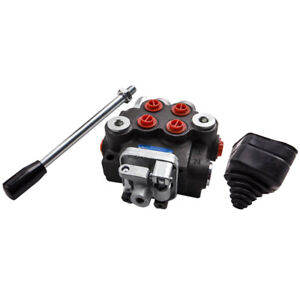 2 Spool Hydraulic Control Valve 11gpm Directional Double Acting Cylinder 40l min