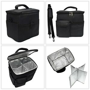 Top Quality Insulated Food And Drink Storage Black Delivery Bag Carrier Holder