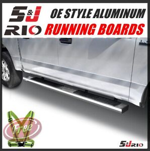 6 Oe Aluminum Side Bars Running Boards For 2015 2020 Ford F 150 Super Cab