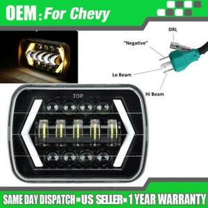 105w Cree 7 X6 Led Headlight Hi Lo Beam Halo Drl Bulb For Jeep Xj H6014 H6054