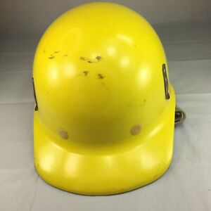 Vintage Fibre Metal Hard Hat Yellow 1969 Class A Free Shipping
