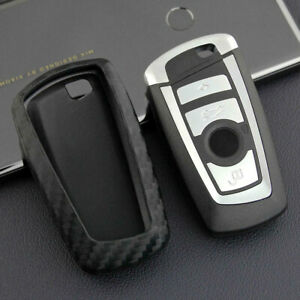 Car Key Case Cover Remote For Bmw X4 2014 2018 Keychain Fob Carbon Fiber Look Us