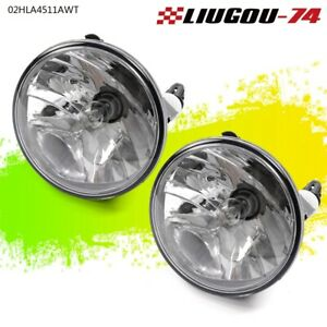 Pair For 07 13 Chevy Avalanche Suburban Gmc Tahoe Clear Fog Light Driving Lamps