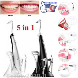 Ultrasonic Scaler Electric Tooth Cleaner 5 In 1teeth Stain Dental Cleaning Kits