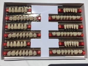 Dental Synthetic Resin Denture A1 419 38 34 Teeth Upper Lower 3 Full Set