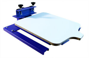1pc Two Directions Head shaking 1 Color Spinning T shirt Screen Printing Machine