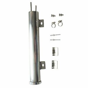 2 X 15 Polished Stainless Steel 24 Oz Radiator Coolant Over Flow Puke Tank Can