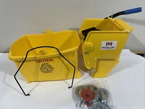 26 Qt Metro Commercial Mop Bucket With Side Press Wringer Yellow