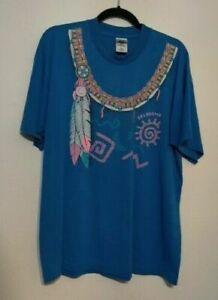 Vintage Mens XL Oklahoma Native American Fruit of the Loom BEST Single Stitch $9.99