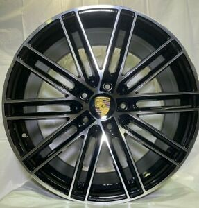 20 Black Machined Face Wheels Turbo Gts Style Fits Cayenne Gts S 4s Hybrid W859