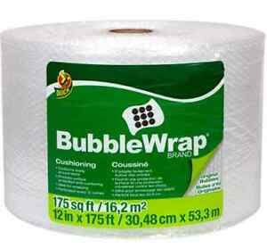 Duck Brand Bubble Wrap Roll Original Bubble Cushioning 12 X 175 Perforated
