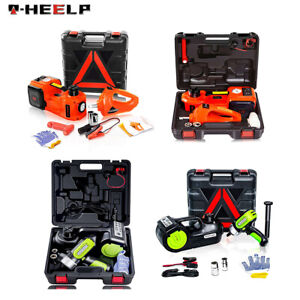 Car Jack 12v 5ton Electric Hydraulic Jack Floor Lift Impact Wrench Tire Tool Kit