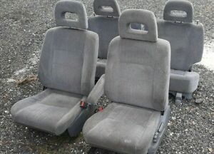 97 01 Honda Crv Complete Gray Cloth Seats Driver Passenger Front Rear Get Fast