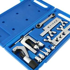 Single Flaring Tool Kit For 3 16 5 8 6 Dies Automotive Brake Line Tube Cutter