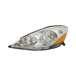 For Toyota Sienna 2006 2010 Sherman 8187 150 1 Driver Side Replacement Headlight
