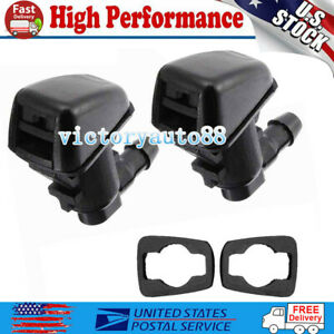 2 Windshield Washer Nozzle Jet Spray Front For Dodge Nitro 2008 12 Jeep Liberty