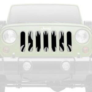 For Jeep Grand Cherokee 98 04 1 pc Monster Teeth Style Perforated Main Grille