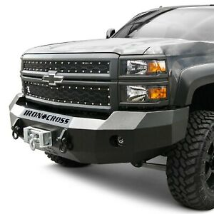 For Chevy Silverado 2500 Hd 20 Front Bumper Heavy Duty Series Full Width Gloss
