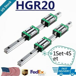 2 4 6 8pc Hgr20 200 1700mm Linear Guide Rail 4 8 12 16pc Hgh20ca Slide Block Cnc