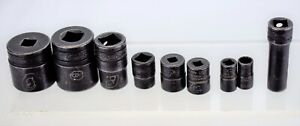 Snap on Tools Assorted Sockets 1 9 16 7 16 3 8 15 16 1 2 11 32 And More