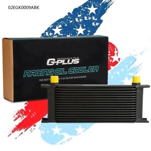 Oil Cooler Fit 16 Row An10 Aluminum Racing Transmission Engine Black Universal