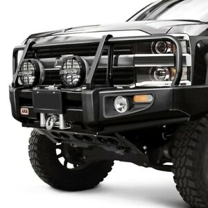 For Chevy C1500 88 98 Bumper Deluxe Full Width Black Powder Coat Front Winch Hd