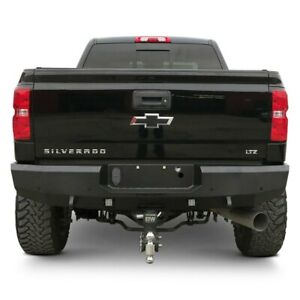 For Chevy Silverado 3500 Hd 11 19 Bumper Fortis Full Width Textured Black Rear