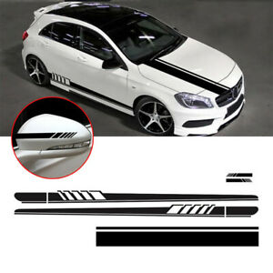 Parts Car Stickers Replacement 5pcs Body Racing Vinyl Hood Roof Decals
