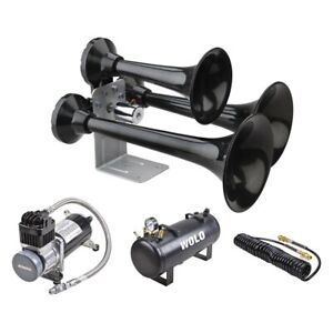 Wolo Siberian Express Pro Black Powerful Train Horn W On board Air System