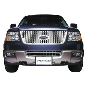For Ford Explorer 2002 Putco 1 Pc Polished Round Punch Cnc Machined Main Grille